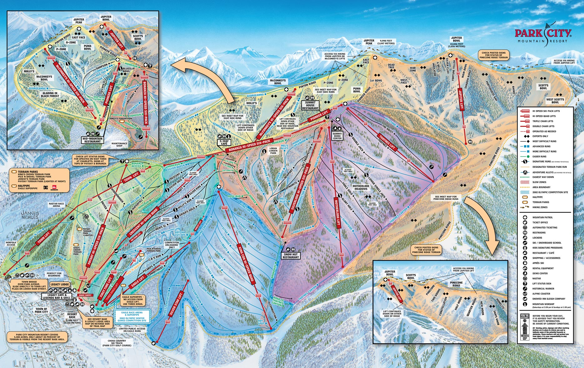 Park City Deer Valley The Canyons Resort Maps Park City Town Map