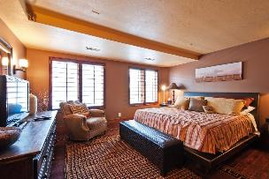 Park City Condo Rental - Master Bedroom wih King Bed