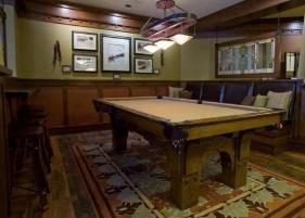 Ski in ski out deer valley vacation rental arrowleaf lodge - Smallest room for pool table ...