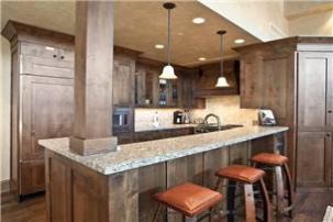Park City Vacation Rental - Kitchen w/ Seating for 3 at Bar