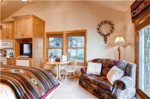 Park City Vacation Rental - Studio Dining and Sofa