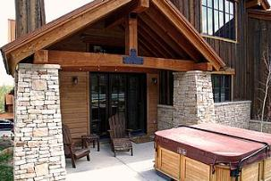 ParK City vacation rental - Silver Star exterior read deck and hot tub