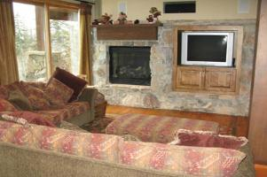 Solitude Vacation Rental - Family Room Fireplace
