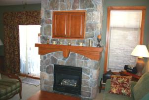 Solitude Vacation Rental - Great Room Fireplace