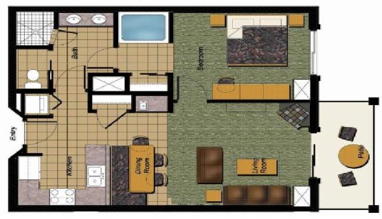 Park City Vacation Rental - Floor Plan